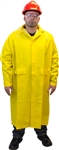 "Safety Zone Heavy Weight 48"" Full Length Yellow Rain Coat"