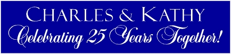 25 Years Together Banner