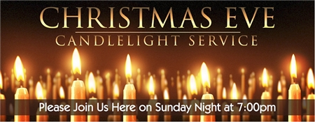 Christmas Eve Candlight Service Banner 1