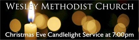 Christmas Eve Candlight Service Banner 2
