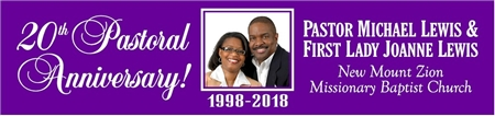 Pastoral Anniversary Banner with PHOTO