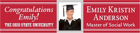 Congratulations Graduate Banner with Photo