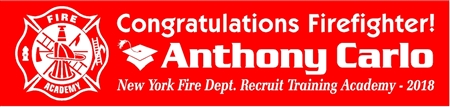 Firefighter Training Graduation Banner with Scramble