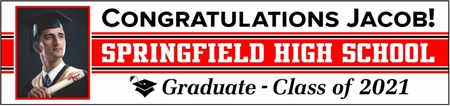 High School Graduation Photo Banner GRHS103