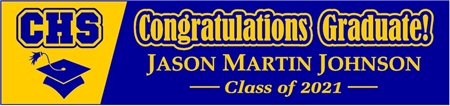 High School Graduation Banner Acronym Two-Tone 1