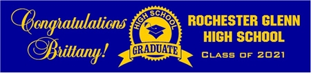 High School Graduate Seal Banner