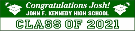 Class of 2021 High School Graduation Banner