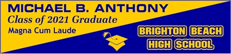 Diagonal 2-Tone High School Graduation Banner