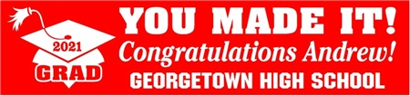 2020 You Made It High School Graduation Banner