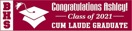 Vertical Acronym 2-Tone High School Graduation Banner 2