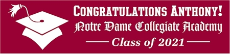 Gothic Style School Name Graduation Banner 1