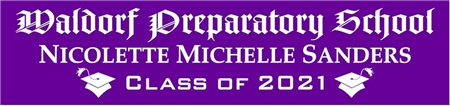 Gothic Style School Name Graduation Banner 2