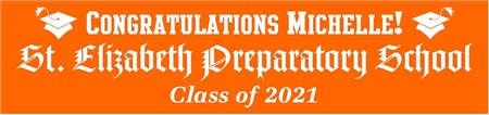 Gothic Style School Name Graduation Banner 3