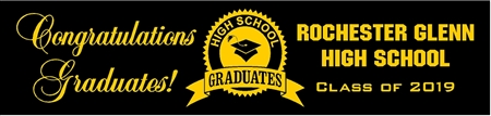 High School Graduation Banner from School 1