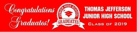 Junior High School Graduation Banner from School 1