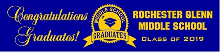 Middle School Graduation Banner from School 1