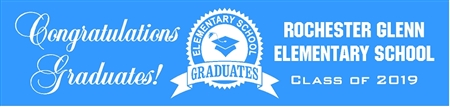 Elementary School Graduation Banner from School 1