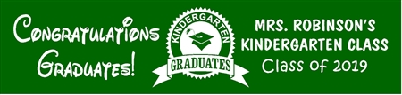 Kindergarten Graduation Banner from School 1