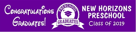Preschool Graduation Banner from School 1