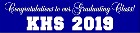 School Acronym and Year Graduation Banner