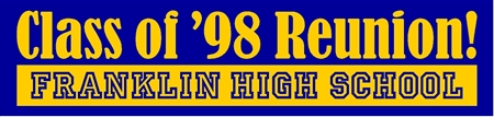 Reunion School Reversed Banner