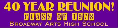 Class Reunion Year Number Banner