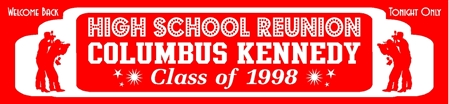 High School Reunion Marquee Banner