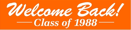Welcome Back Class Reunion Banner in Brush Script