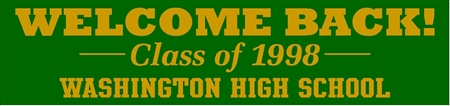 Welcome Back Class Reunion Banner in Classic Style