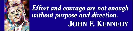 JFK Purpose Quote Banner with Illustration