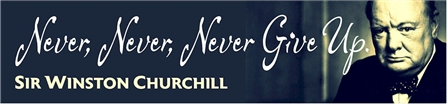 Sir Winston Churchill Quote with Photo