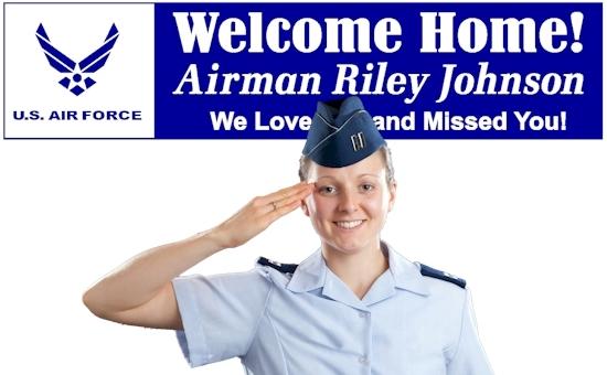 Custom Name Congratulations AIRMAN We Love You Banner