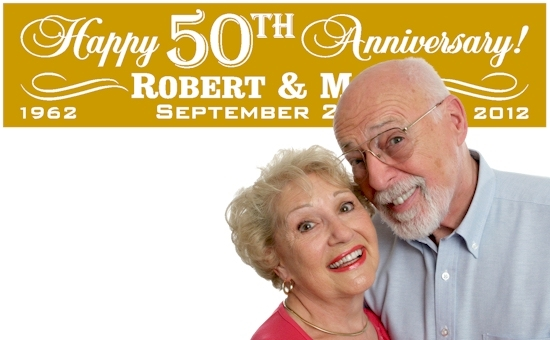 50th anniversary party banners golden wedding anniversary