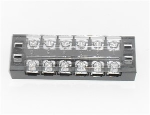 Terminal Block 6 Position with cover 25Amp 600V