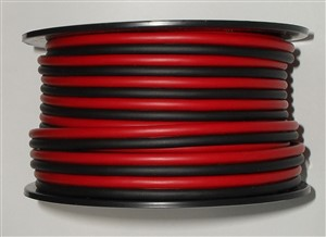 RED & BLACK ZIP CORD 18awg 50 Ft., spooled