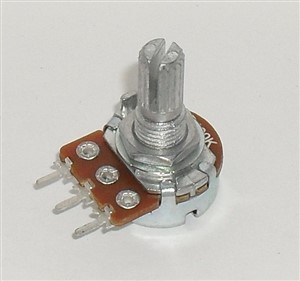 10K Audio Taper 1/4W Potentiometer A10K Splined Shaft