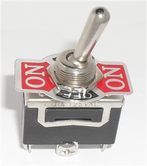 "SPDT ON/OFF/ON Toggle Switch 6A 1/2"" Mount"