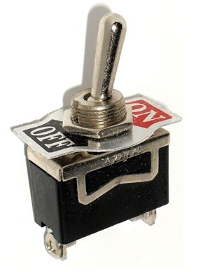 "10A SPST ON/OFF Toggle Switch 1/2"" Mount"