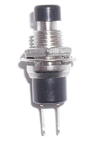 SPST Normally On Black Button N.C. PushButton Switch