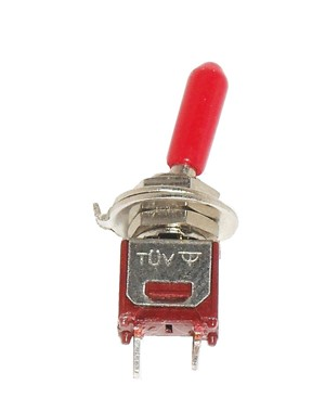 SPST ON/OFF Subminiature with red handle Toggle Switch Mini