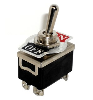 "DPST ON/OFF Toggle Switch 1/2"" Mount 20A"