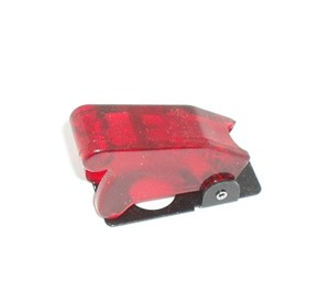 Transparent Red Toggle Switch Safety Cover