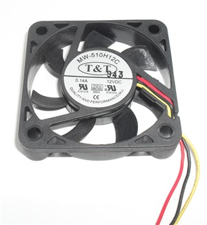 50mm x 10mm 12V dc Computer Muffin Fan 140mA