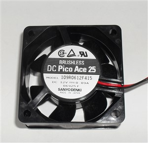 "60mm x 25mm 12Vdc Computuer Muffin Cooling Fan about 2-3/8"" x 1"""