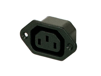 15A 250V Female Chassis POWER SOCKET, solder terminals