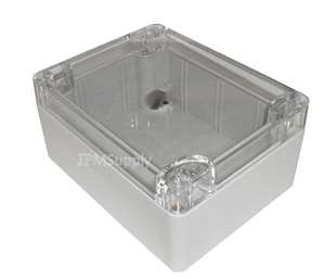 "Sealed Polycarbonate Project Box Clear Lid 2.5""x2.3""x1.4"" Light Gray"