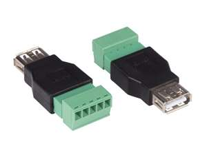 USB A Female To 5 Pin Terminal, One