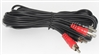 12 Ft RCA Patch Cord Red and White Male Plug to RCA Male Plug