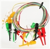 Minigrabber to Minigrabber Test Lead Set 10 wires with 5 Colors