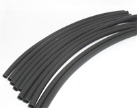 "Heat Shrink Tubing, 1/8"" x 6"", Black, 10PK"